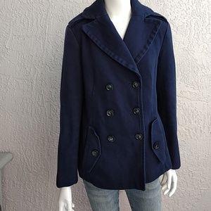 Gap Peacoat Navy Cotton Jacket Size Small.